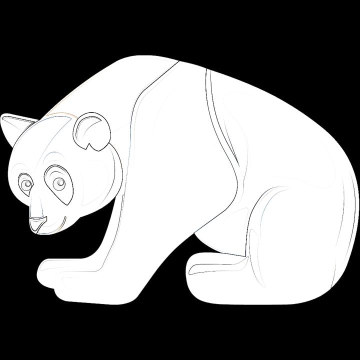 Il n'est pas beau mon panda à colorier ?